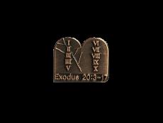 #20317 출애굽기 20:3-17 암송핀